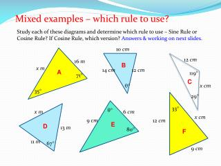 Mixed examples � which rule to use?