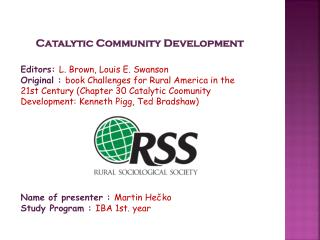 Catalytic Community Development