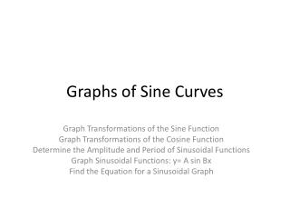 Graphs of Sine Curves