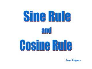 Sine Rule