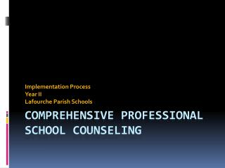 Comprehensive Professional School Counseling