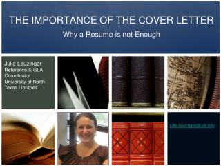 THE IMPORTANCE OF THE COVER LETTER