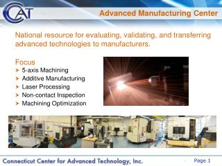 Advanced Manufacturing Center