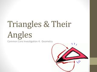Triangles & Their Angles