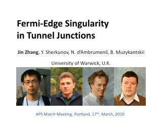 Fermi-Edge Singularity in Tunnel Junctions
