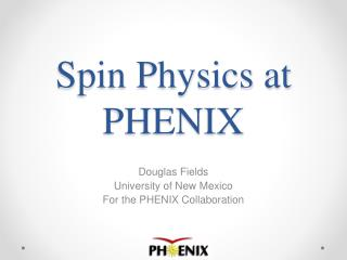 Spin Physics at PHENIX