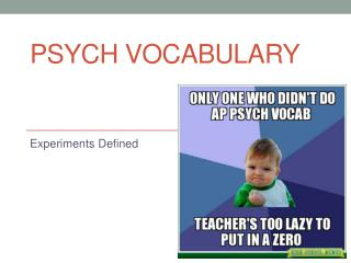 Psych Vocabulary