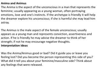 Anima and Animus