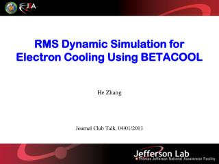 RMS Dynamic Simulation for Electron Cooling Using BETACOOL