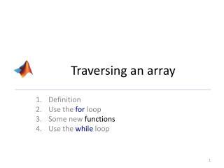 Traversing an array
