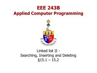EEE 243B Applied Computer Programming