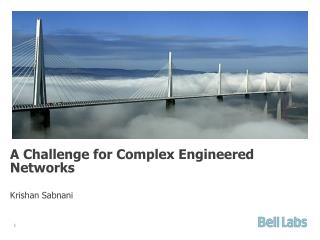 A  Challenge for Complex Engineered Networks Krishan Sabnani