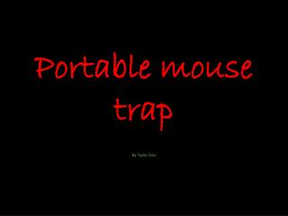 Portable mouse trap
