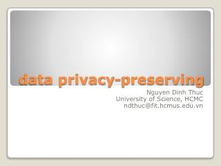 data privacy-preserving