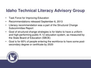 Idaho  Technical Literacy Advisory Group