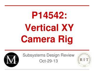 P14542: Vertical XY Camera Rig