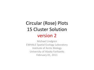 Circular (Rose) Plots 15 Cluster Solution version 2