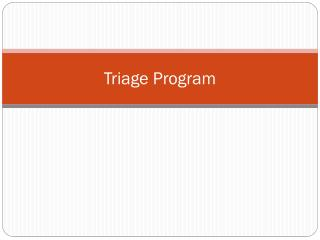 Triage Program