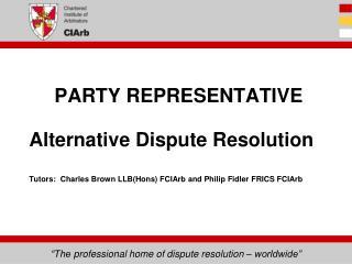 PARTY REPRESENTATIVE