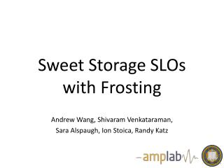 Sweet Storage SLOs with Frosting