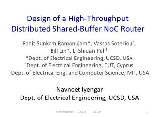 Design of a High-Throughput Distributed Shared-Buffer NoC Router