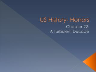 US History- Honors