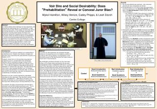 "Voir Dire and Social Desirability: Does  "" Prehabilitation ""  Reveal or Conceal Juror Bias ?"