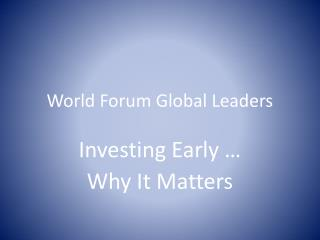 World Forum Global Leaders