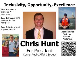 Chris Hunt For President Cornell Public Affairs Society