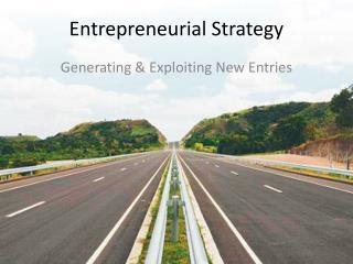 Entrepreneurial Strategy