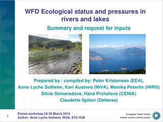 WFD Ecological status and pressures in rivers and lakes