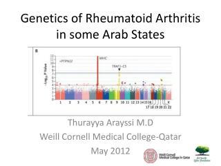 Genetics of Rheumatoid Arthritis in some Arab States