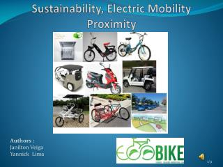 Sustainability ,  Electric Mobility Proximity