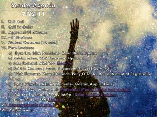 Senate Agenda 2/22/11