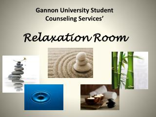 Gannon University Student Counseling Services' Relaxation Room