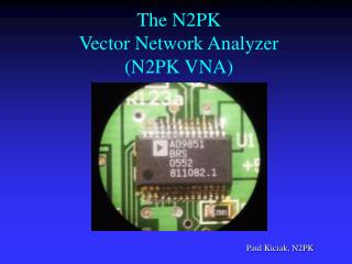 The N2PK  Vector Network Analyzer N2PK VNA