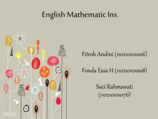 English Mathematic Ins.