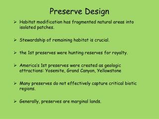 Preserve Design