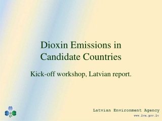 Control of Dioxins