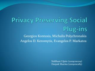 Privacy Preserving Social Plug-ins