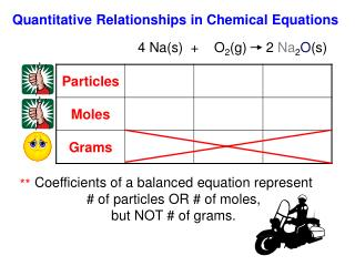 Quantitative Relationships in Chemical Equations