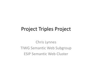Project Triples Project