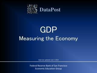 GDP Measuring the Economy