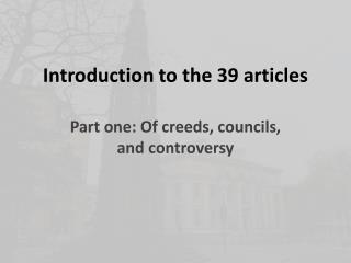 Introduction to the 39 articles