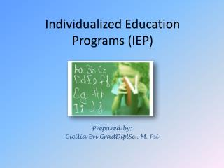 Individualized Education Programs (IEP)