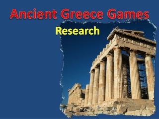 Ancient Greece Games