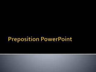Preposition PowerPoint