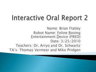 Interactive Oral Report 2