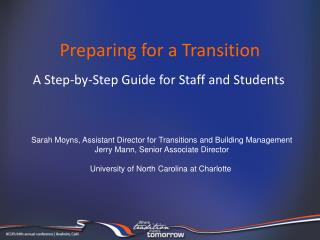 Preparing for a Transition