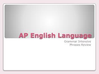 AP English Language
